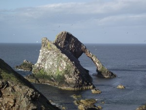 Bowfiddle Rock an der Moray-Firth-Küste