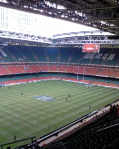Rugby Spielfeld